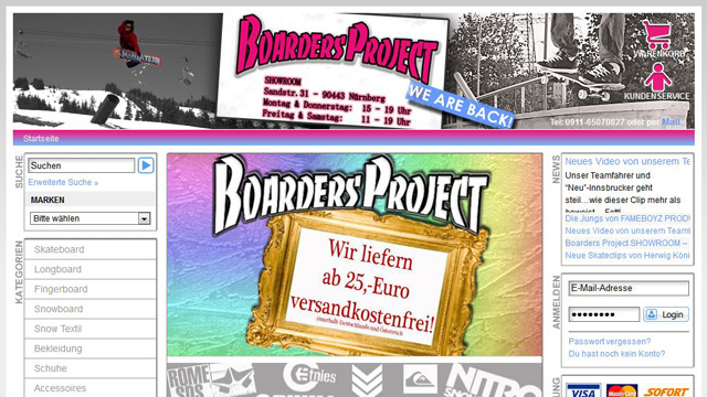 Boarders Project Shop